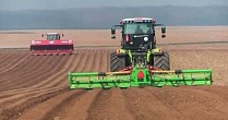 Трактора CLAAS XERION 4500, AXION 840, Grimme GL 660